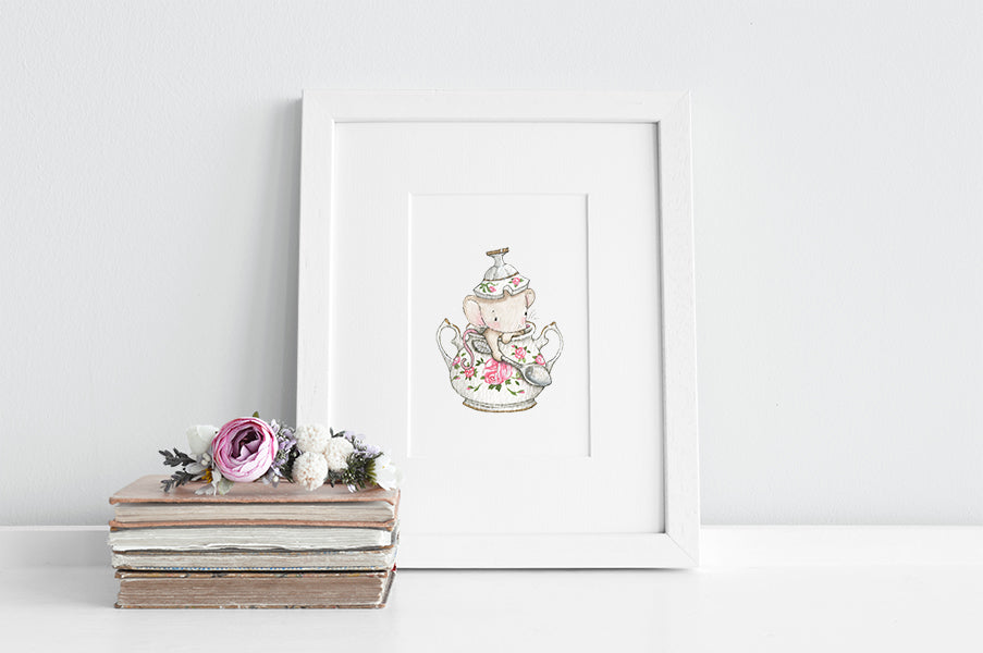Girl's Personalised Sugar Bowl Mouse Picture
