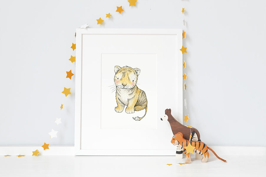 Personalised Newborn Tiger baby picture