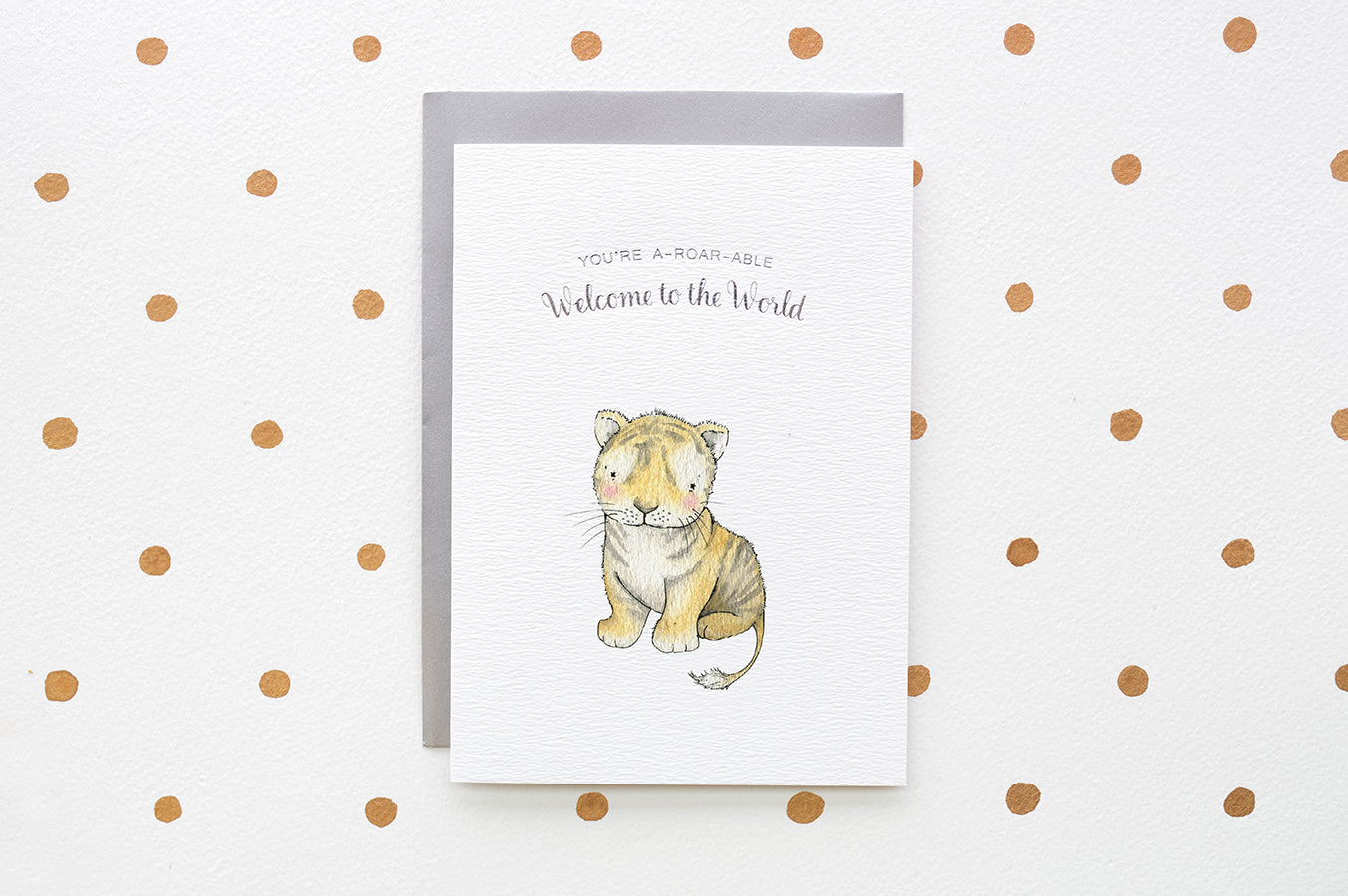 You're A-roar-able New Baby Tiger Card