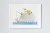 Children's Personalised Whale picture