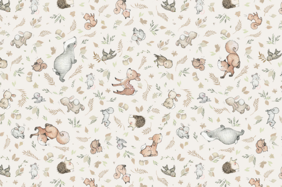 Children's Woodland Animal Cotton Fabric