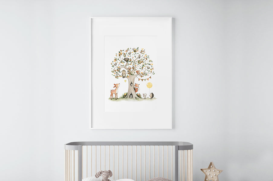 Big Pear Tree Picture for a Child's Bedroom Wall