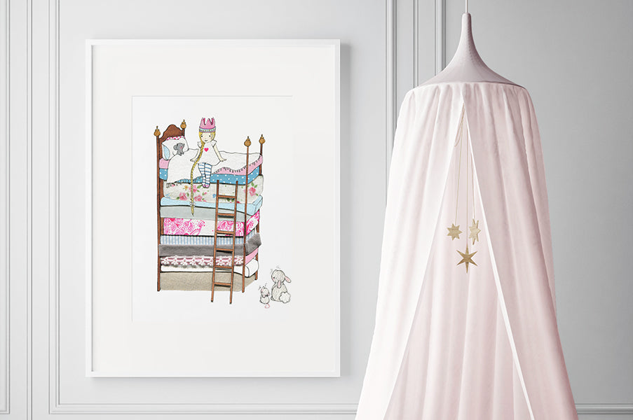 Girl's Big Princess And The Pea Wall Picture
