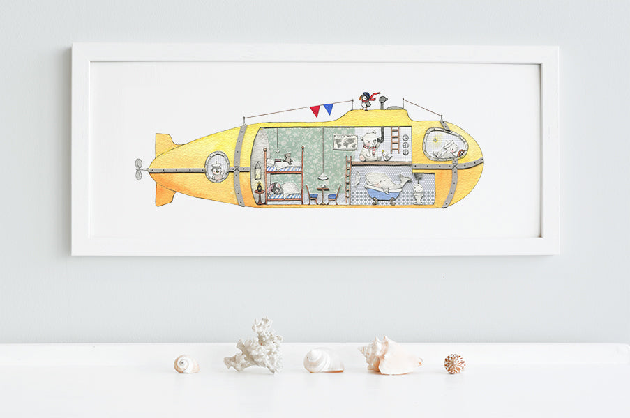 Children's Yellow Submarine Bedroom Picture