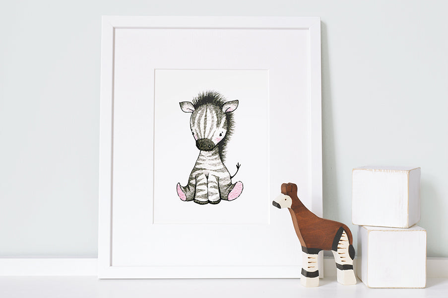 Personalised Newborn Zebra Baby Picture