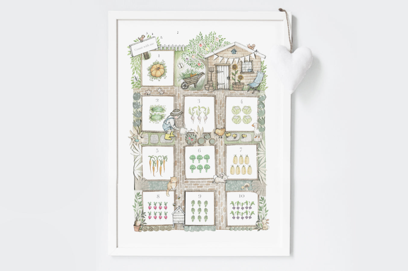 Illustrated Allotment Garden Counting Picture