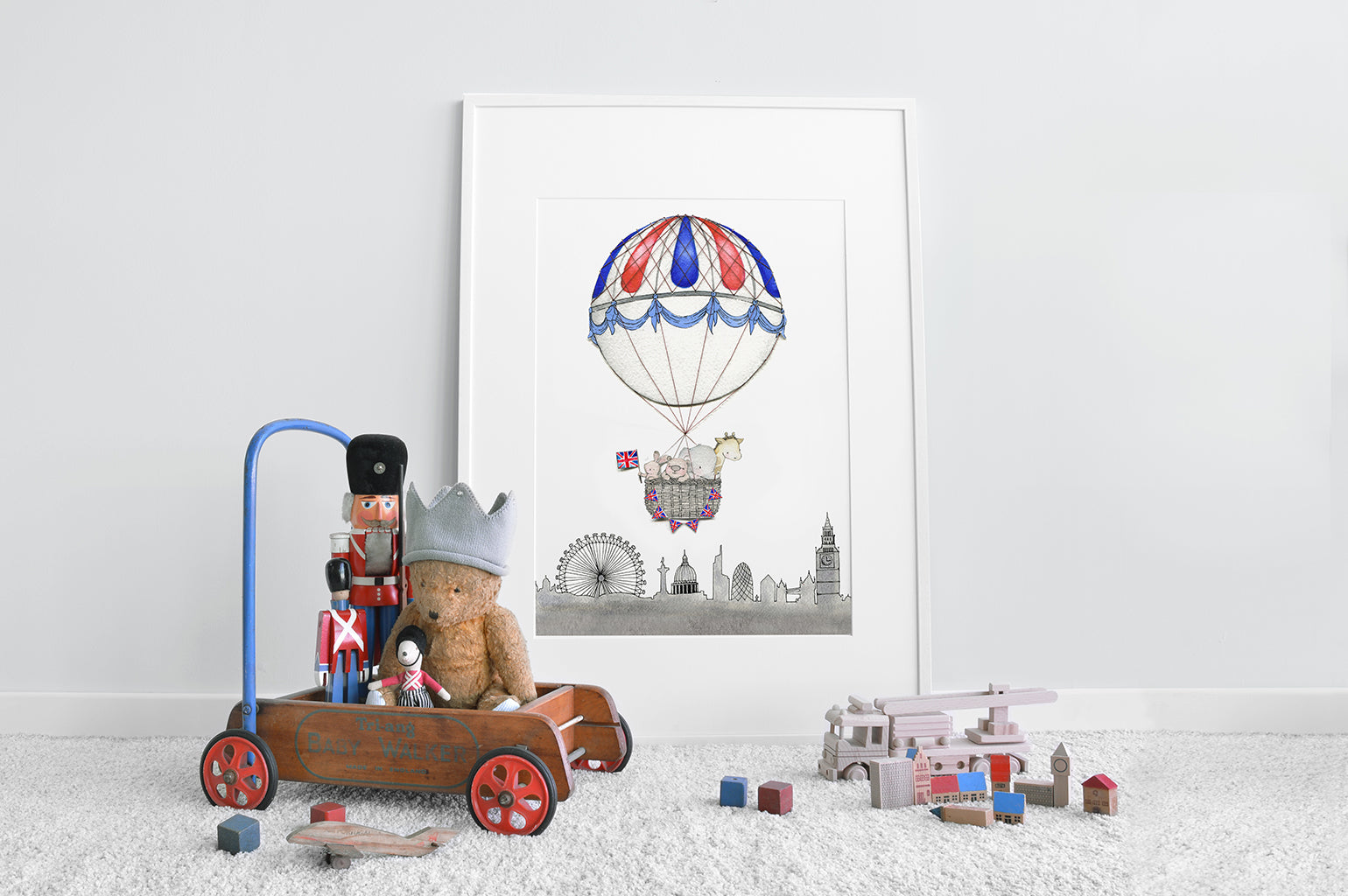 Kid's Big London skyline Balloon Picture