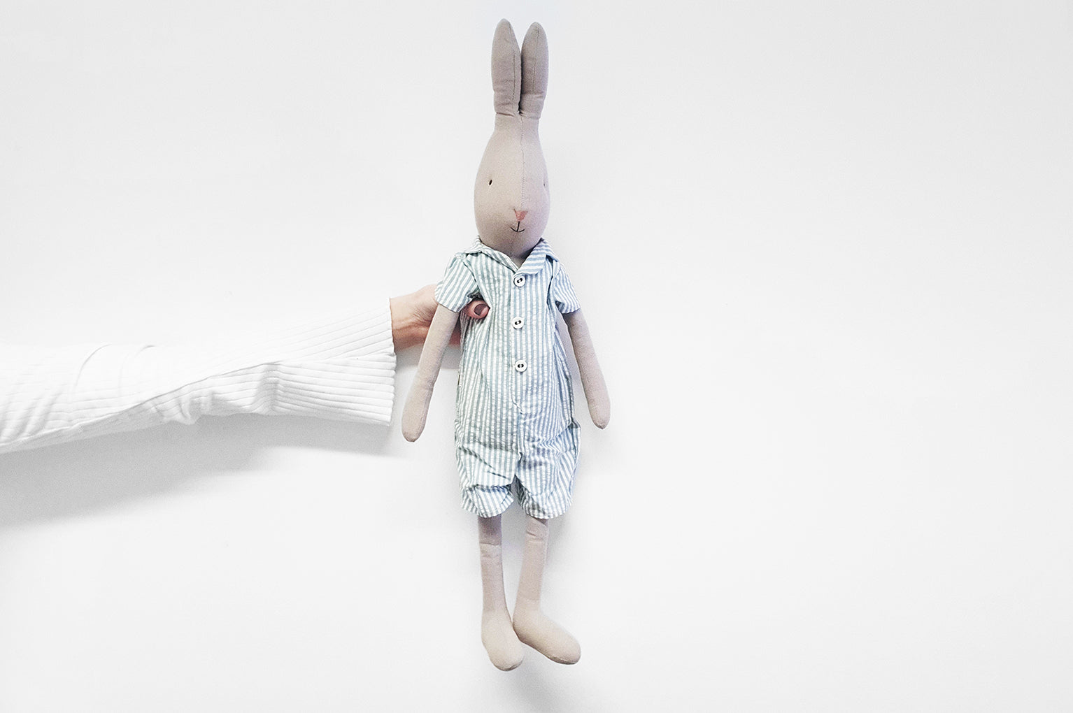 Maileg Rabbit with Pyjamas Soft Toy
