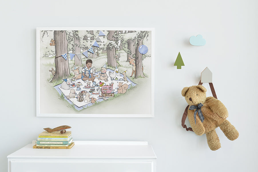 Big picnic picture for a classic boy's nursery