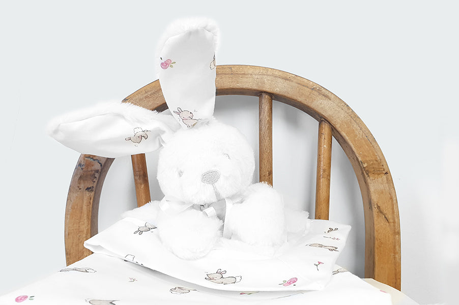 Baby Girl Bunny Soft Comforter Toy
