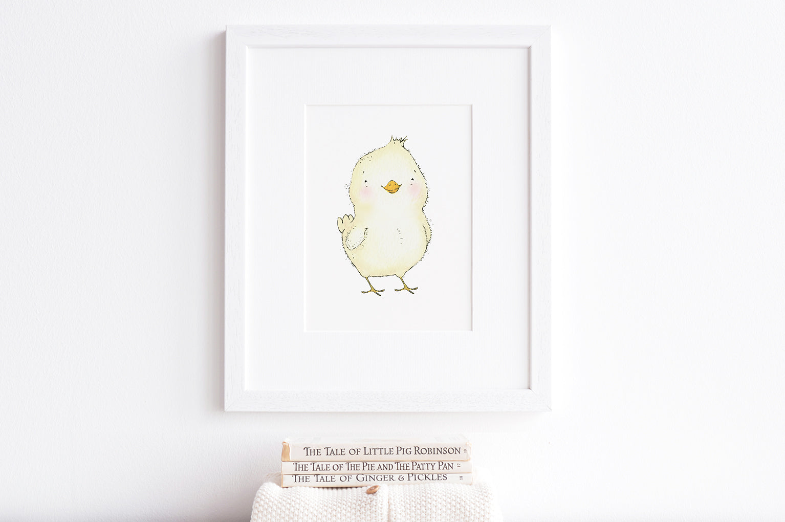Newborn Baby Chick Art Print