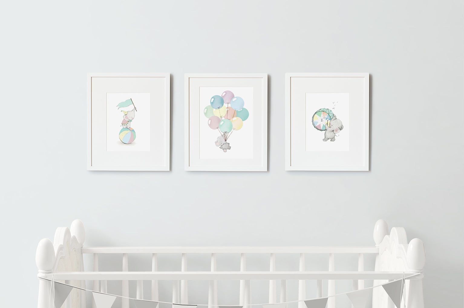 Kid's Circus Elephant Wall Art Set