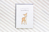 Deerest Little One New Baby Greetings Card