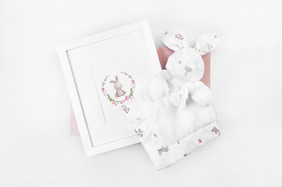 Baby Girl Floral Rabbit Gift Box