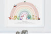 Children's rainbow animal wall art picture