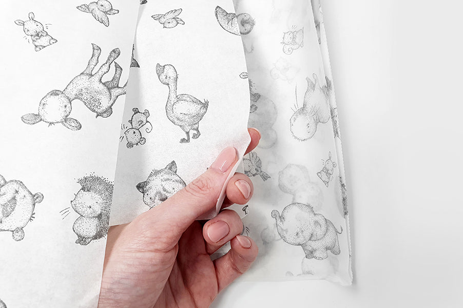 Daisy and Bump Translucent Gift Wrap Sheets