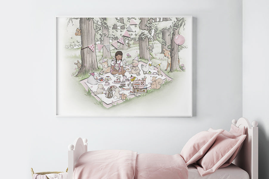 Big picnic picture for a classic girl's nursery