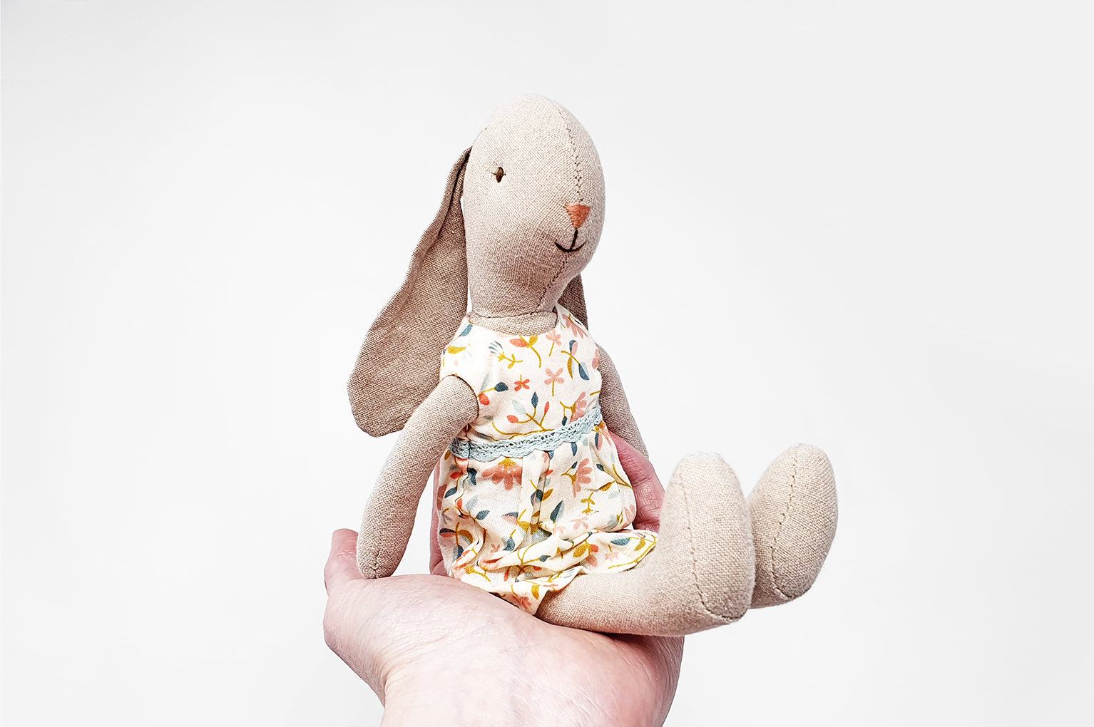 Maileg Mini Floral Dress Bunny Girls Soft Toy