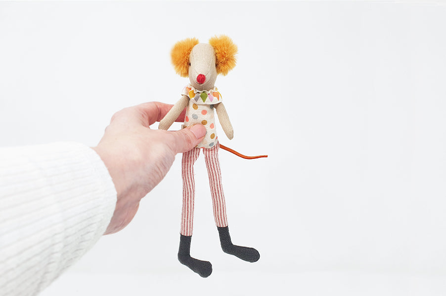 Maileg Clown Mouse Soft Toy