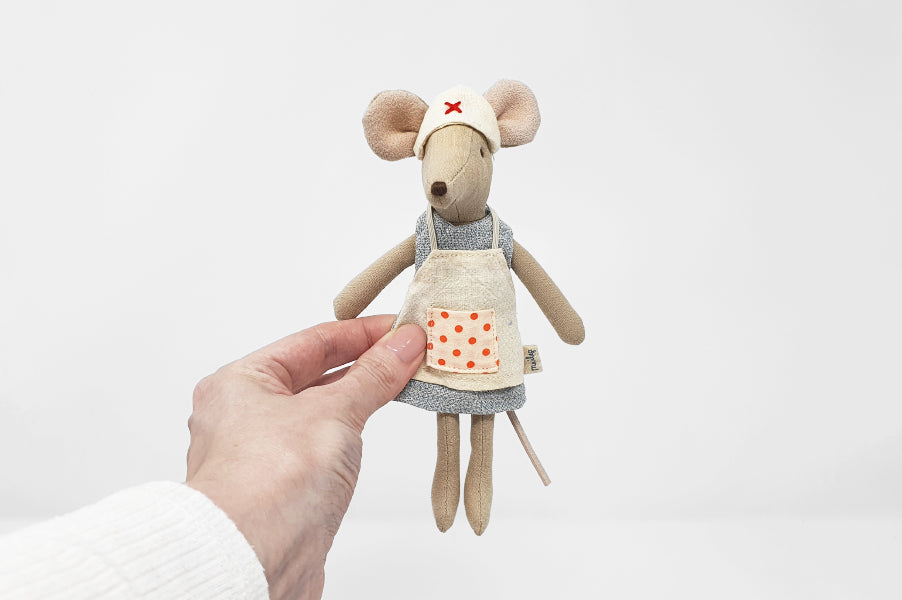 Maileg nurse mouse children's soft toy