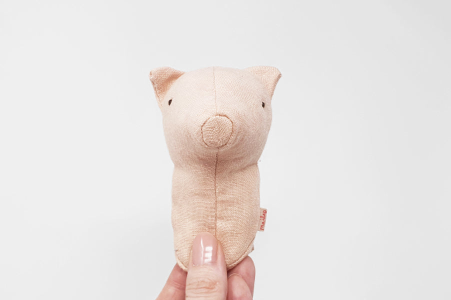 Maileg Pig Rattle for baby