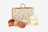 Maileg tea cake set in floral suitcase tin toy