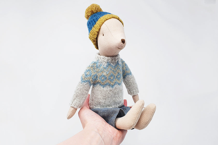 Maileg Medium Boy Winter Mouse Children's Toy