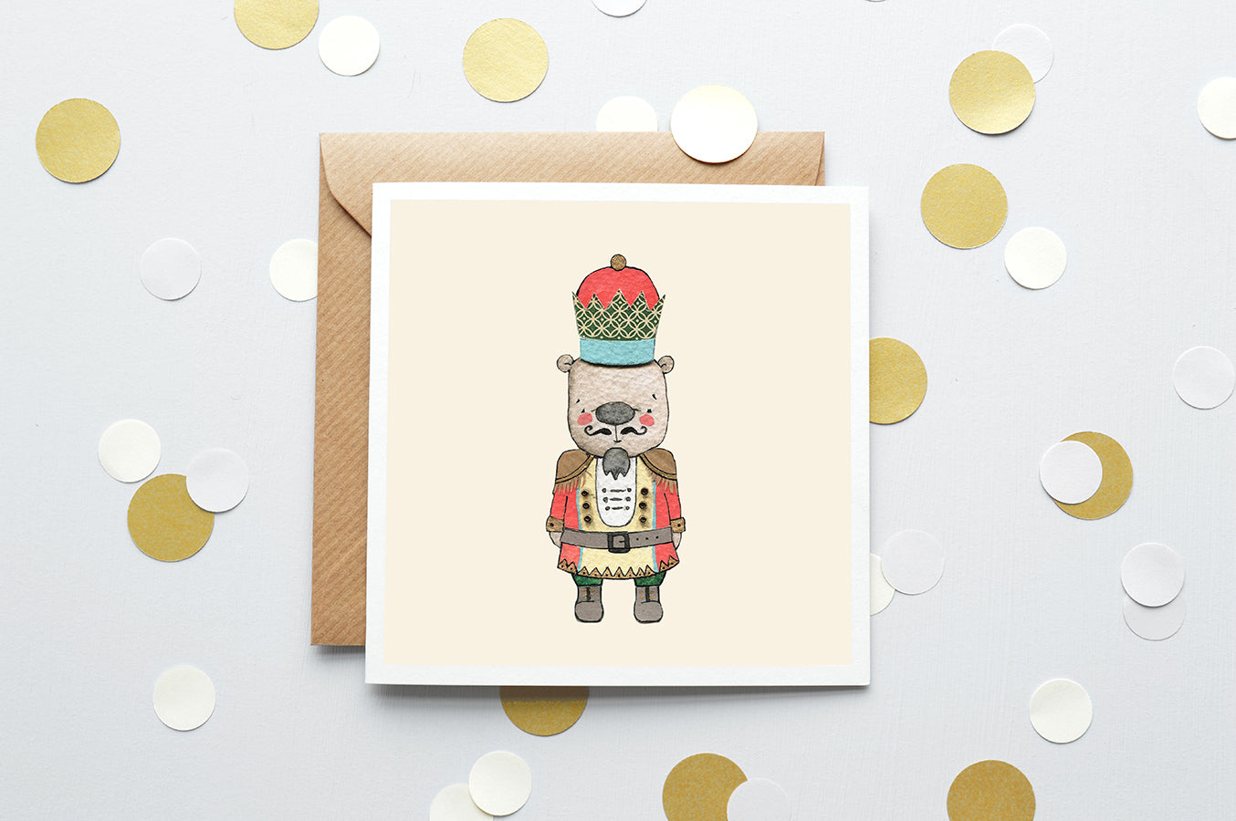 Children's Christmas Nutcracker Greetings Card