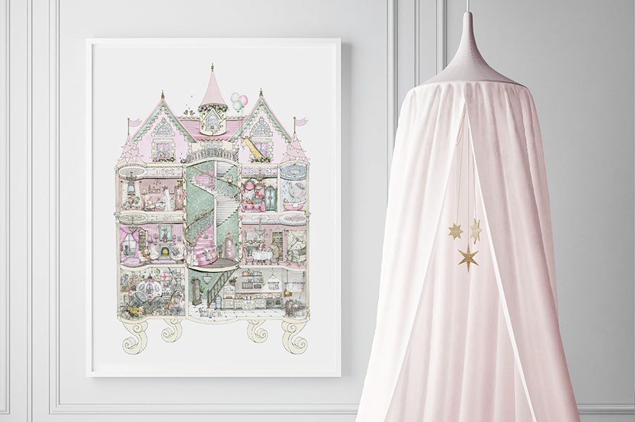 Big Princess Palace Picture for a Girl's Bedroom