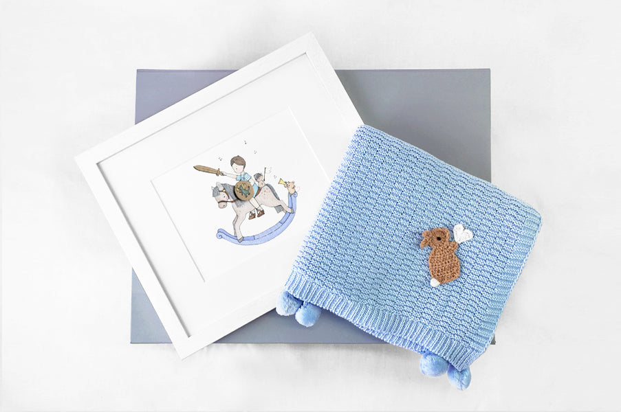 Newborn Baby Blue Prince Gift Box