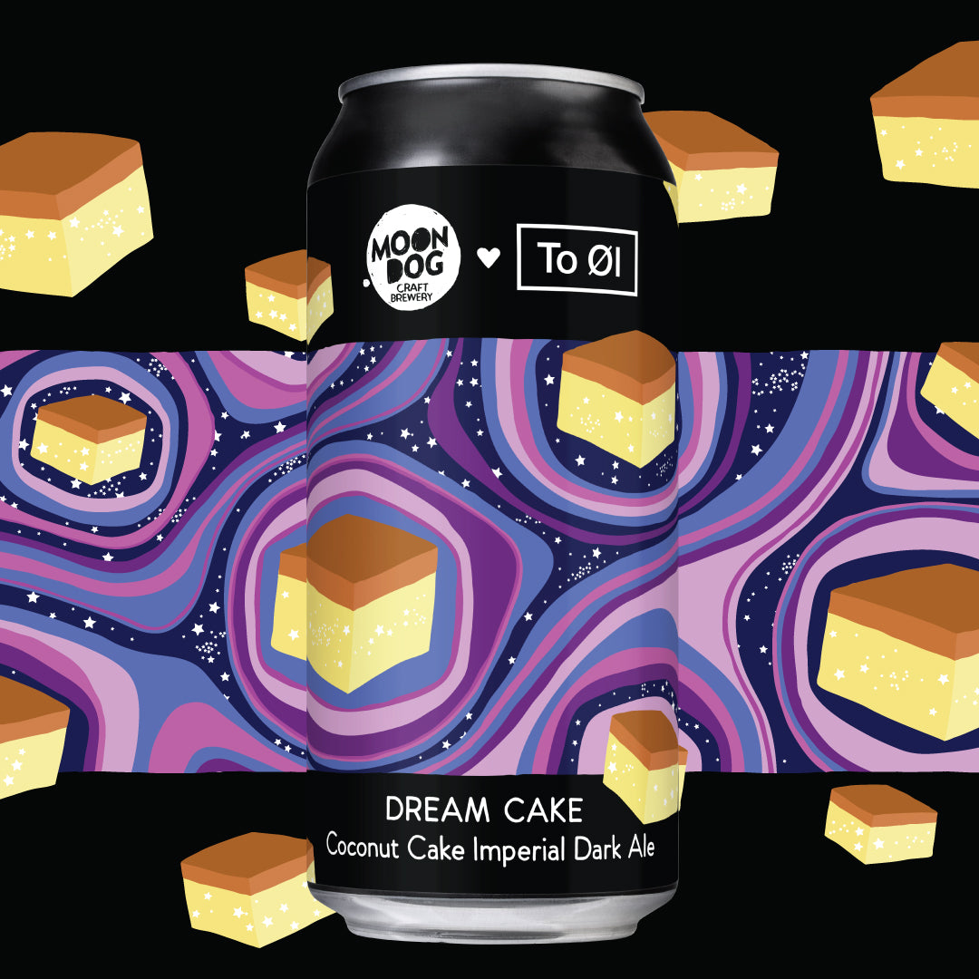 Dream Cake (To Øl Collab) - Coconut Cake Imperial Dark Ale 440ml Cans - Single/4 Pack