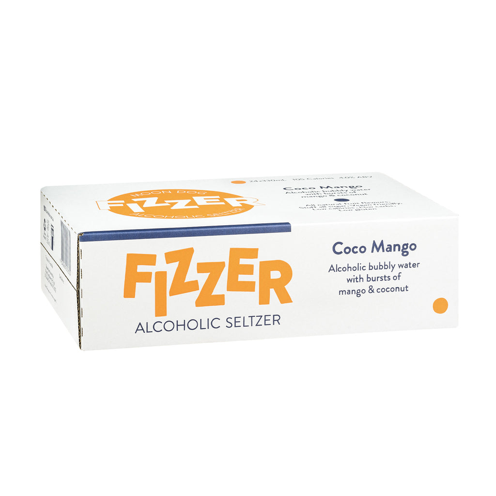 Fizzer Seltzer Coco Mango 330ml Cans - 6/24 Pack