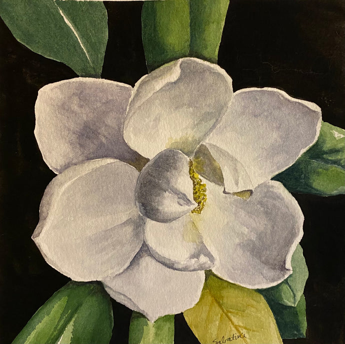 """Single Gardenia"" Watercolor Florals"