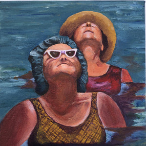 """Sun worshipers"" Acrylic Portrait"