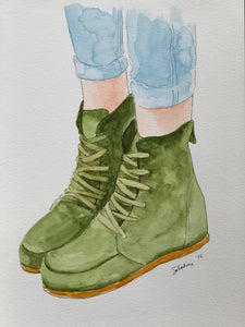"""My Boots"" Watercolor Fashion"