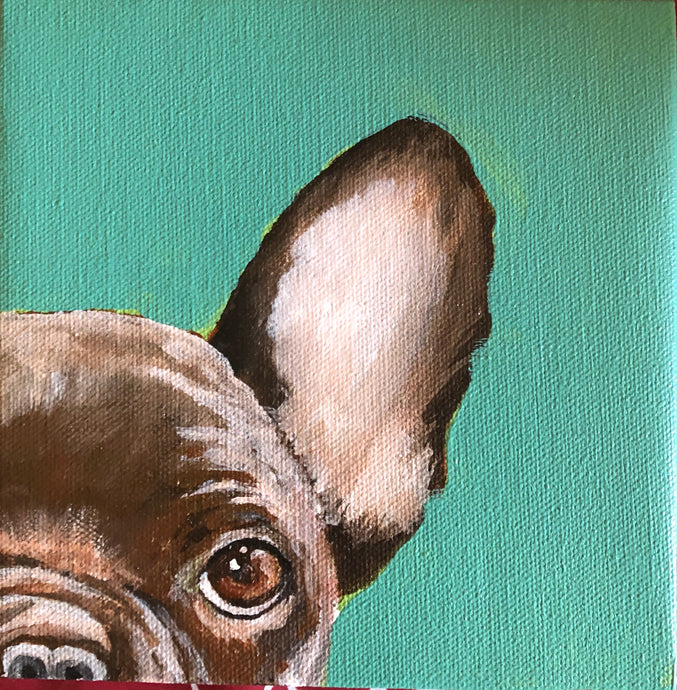 """Frenchie"" Acrylic Nature"
