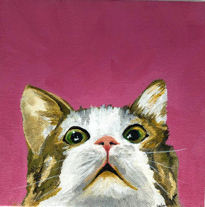 """Curious Kitten"" Acrylic Nature"