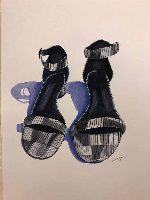 """Summer sandals"" Watercolor Still Life"