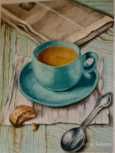 """Morning Coffee"" Watercolor Still Life"