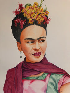"""Frida Kahlo"" Watercolor Portrait"
