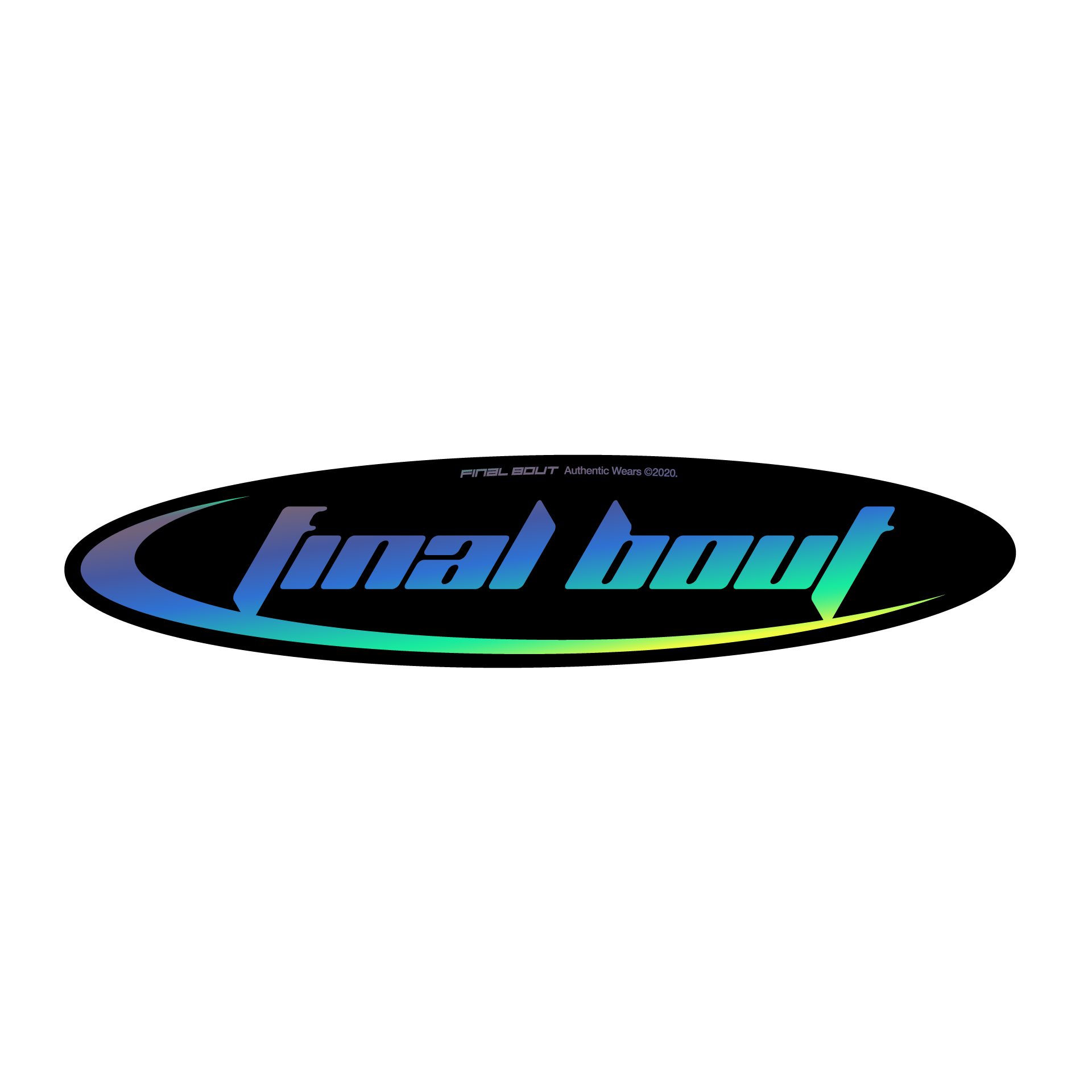 Final Bout Sticker - Techno [ Gold Oil-Slick ]