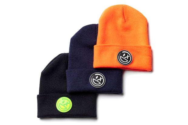 Final Bout Smiley Patch Beanie