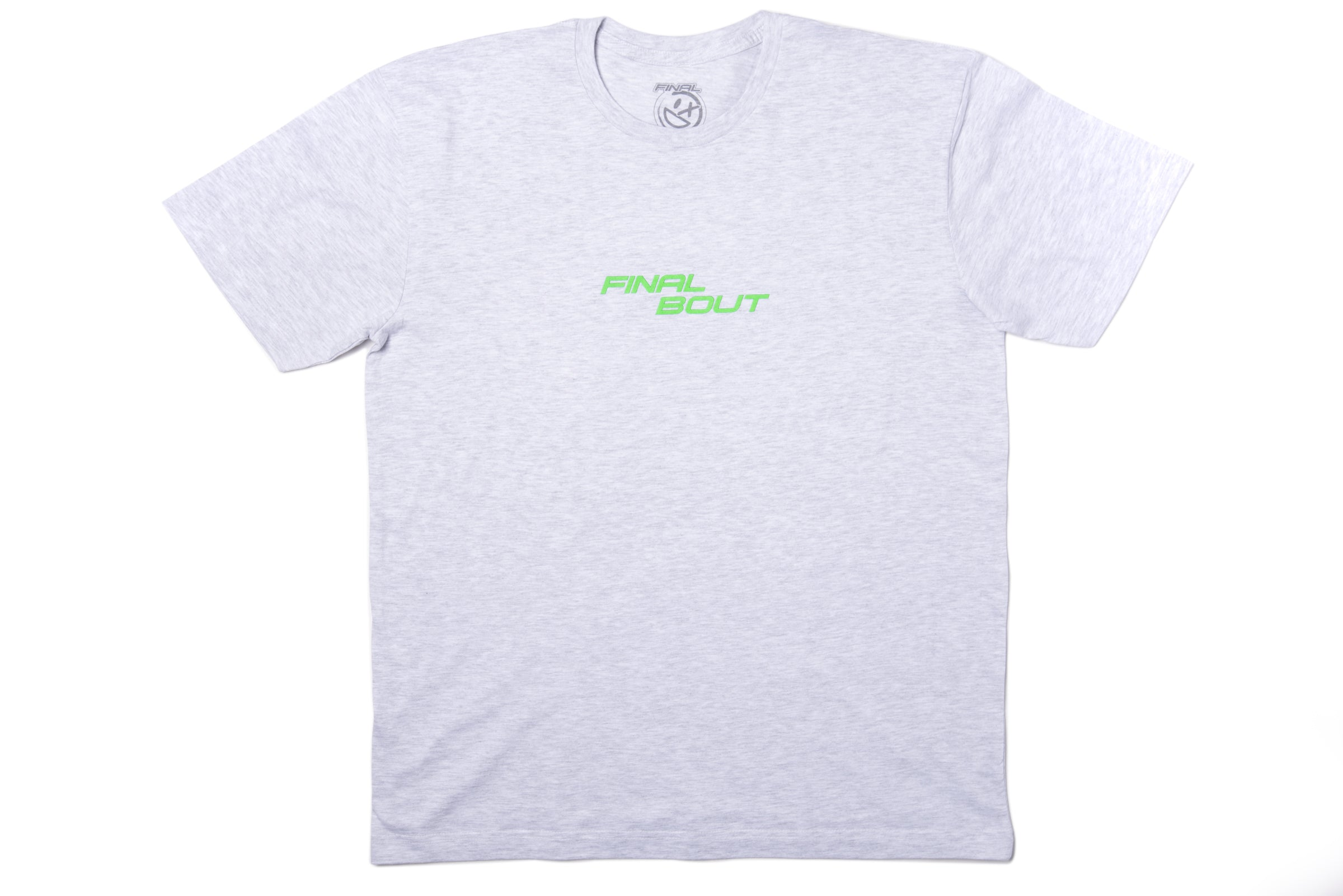 Final Bout Logo Tee [Grey/Neon Green print]