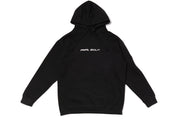 Big Smiley Hoodie [Black/Metallic Silver Print]