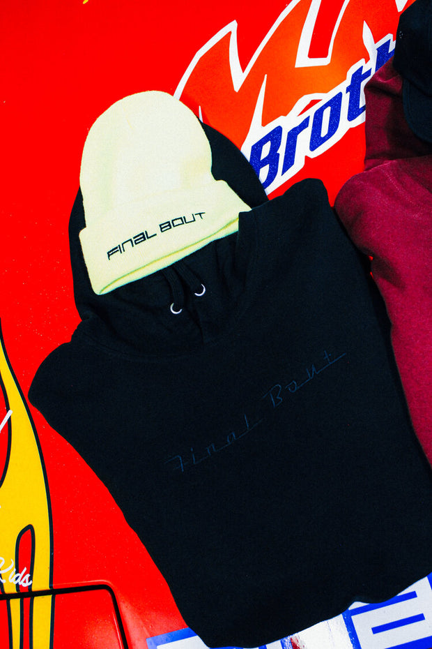 Final Bout Hoodie ~ Black [ Embroidered Logo ]