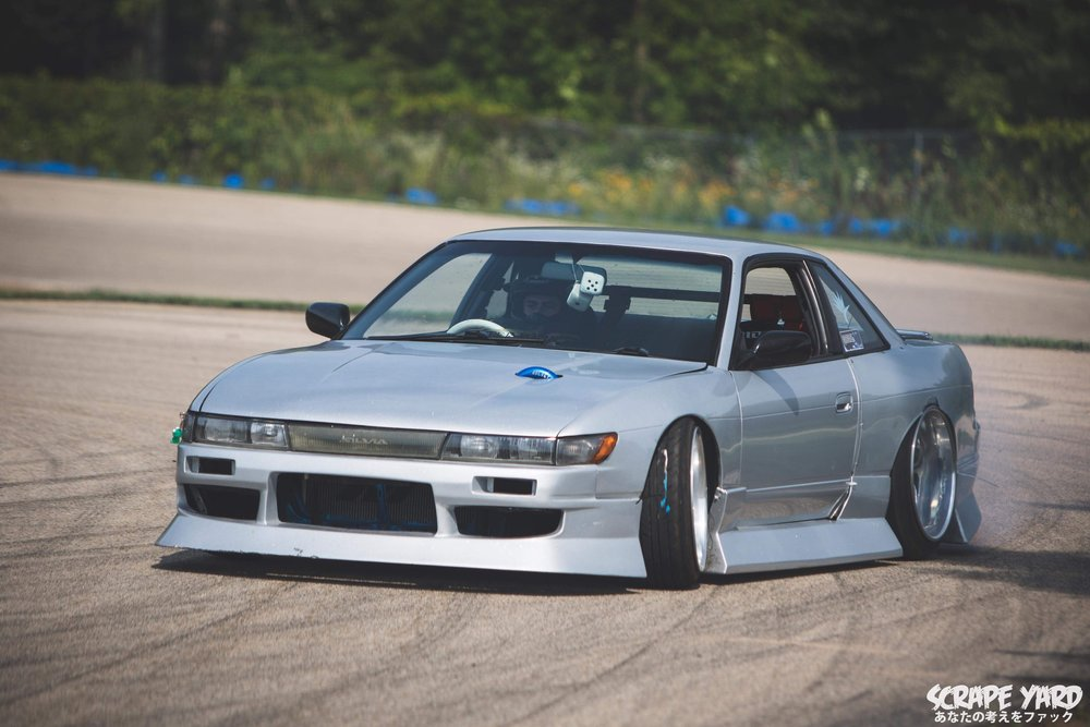 Machine Check(S13) - Engine: 415 HP KA24DE-T, Forged bottom end, Tomei Pon Cams, ID1000 injectors, Mega squirt standalone, and a bunch of other go fast junkDrivetrain: Factory 5-speed, 1 piece aluminum driveshaft, and a welded diffFootwork/Suspension/Brakes: Stance XR1 Coil overs, Voodo0 Control arms all the way around, Top Notch Mod front Knuckles, Dual caliper Z32 brakes with Power stop track day pads and rotors
