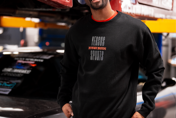 Final Bout Sweater - Vintage Rari [ White + Red Print ]