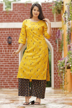 Trendy Rayon Kurta-set With Palazzos