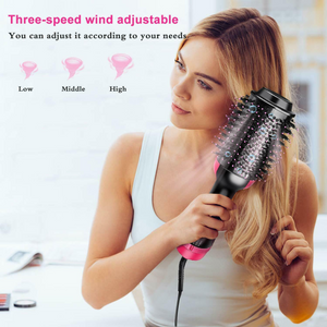 HAIR DRYER, STRAIGHTENER AND VOLUMIZER BRUSH