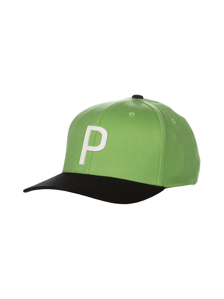 푸마 로고 골프 모자 Puma Throwback P 110 Snapback Cap - WOODHOODGOLF
